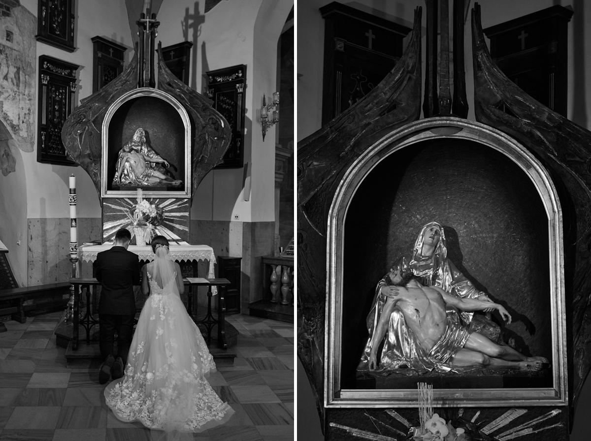 zdjęcia ślubne z katedry tarnów