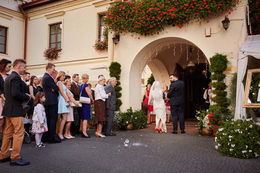 przywitanie gości na zamku w dubiecku
