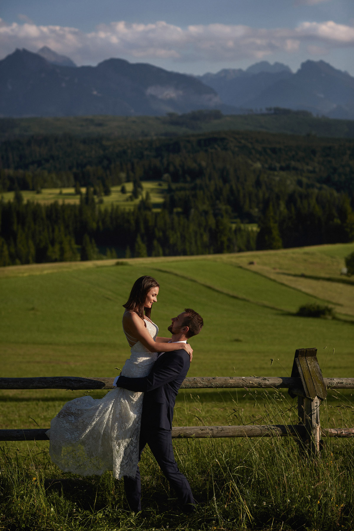 sesja ślubna z widokiem na Tatry