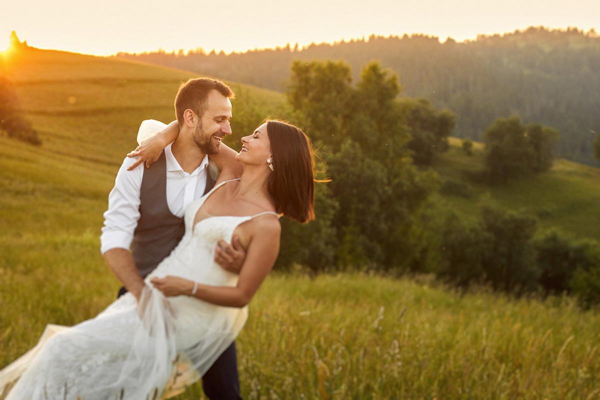 plener ślubny z widokiem na tatry