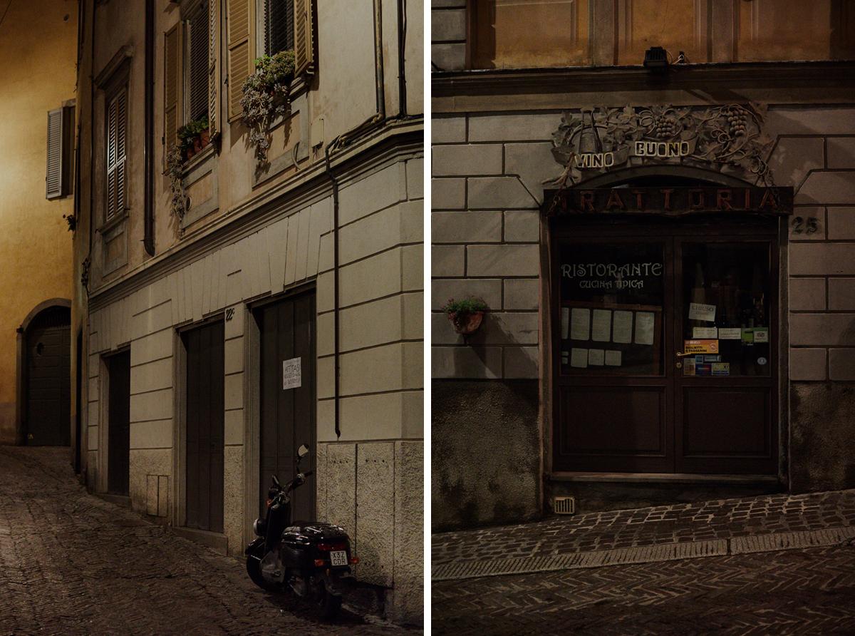 Bergamo nocą
