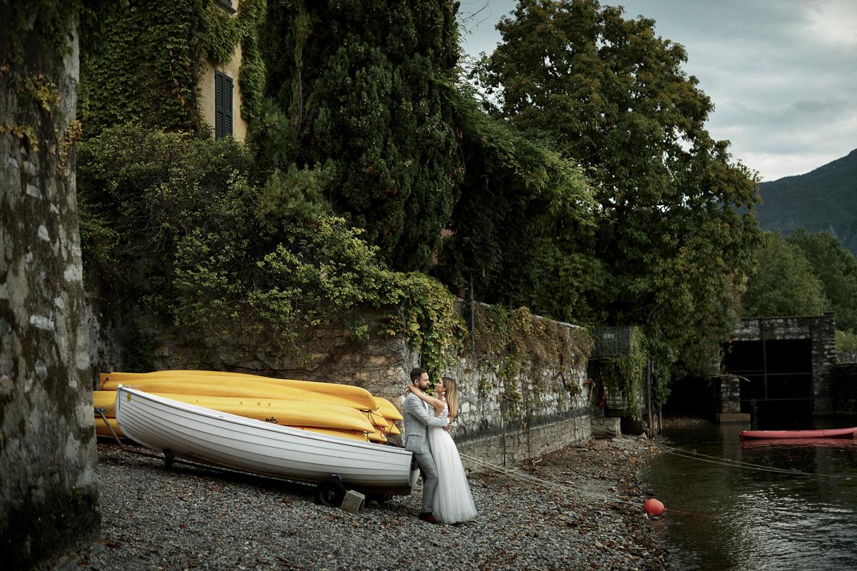 sesja ślubna nad jeziorem Como