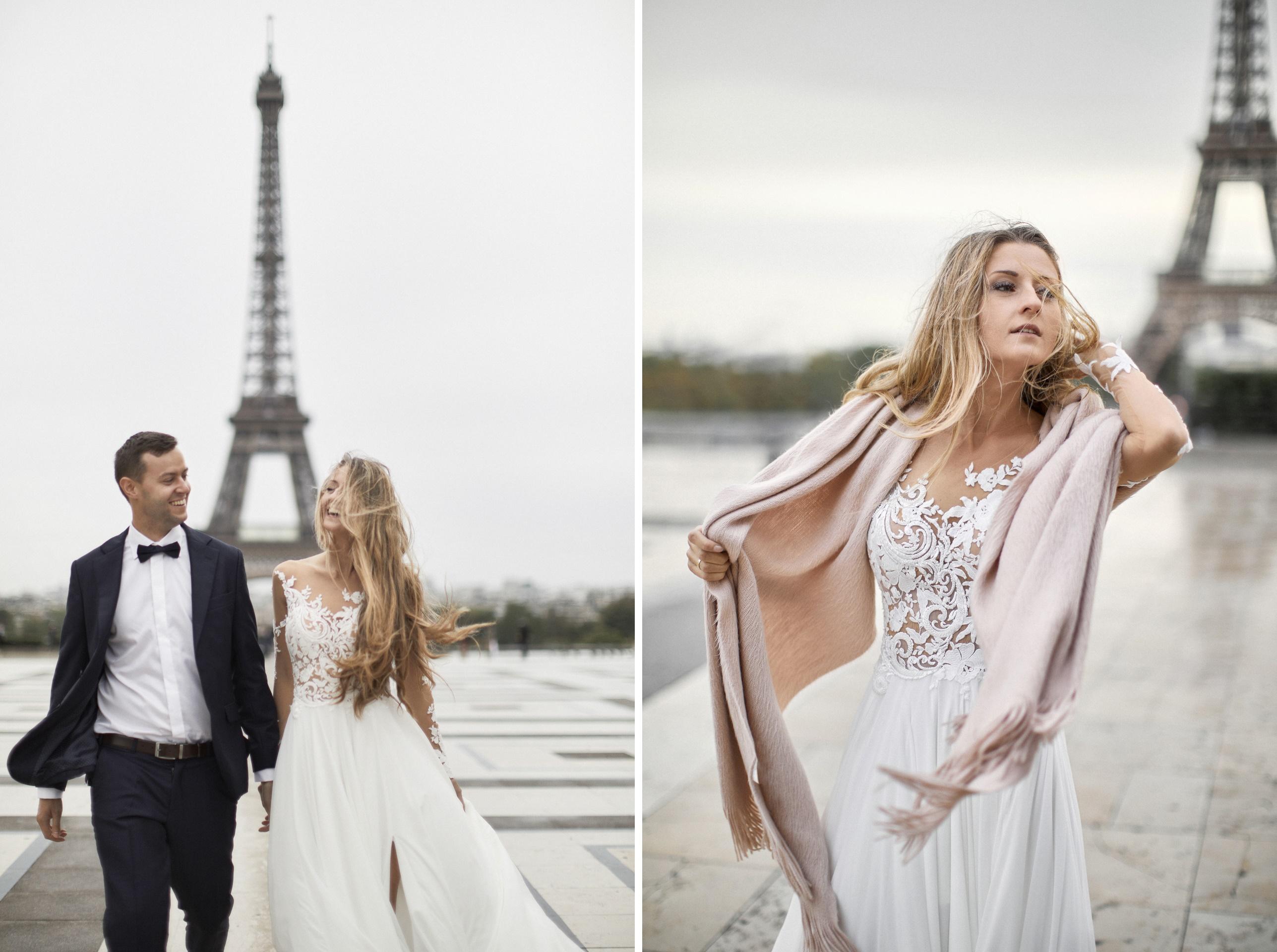 sesja ślubna za granicą w Paryżu