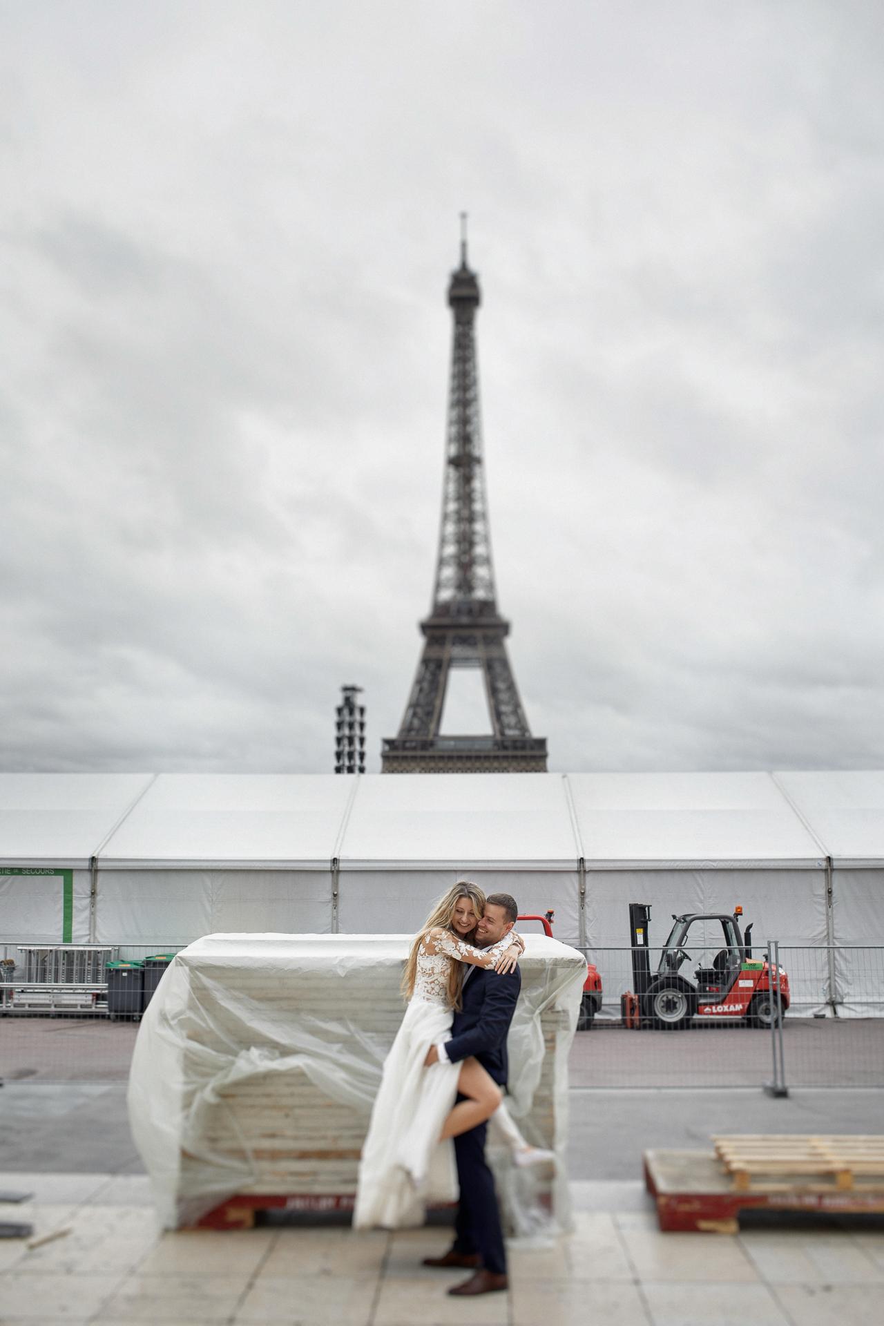 zagraniczny plener ślubny w Paryżu